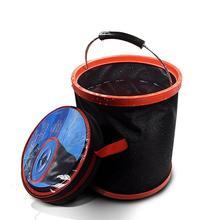 LumiParty 12L портативный большой емкости Открытый Кемпинг Рыбалка складной 12L складной ведро для воды автомобильный инструмент для хранения r30