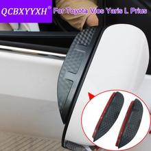 QCBXYYXH для Toyota Yaris L Vios FS Prius стайлинга автомобилей углерода Зеркало заднего вида декоративные дождь Шестерни обратно зеркало брови дождевик