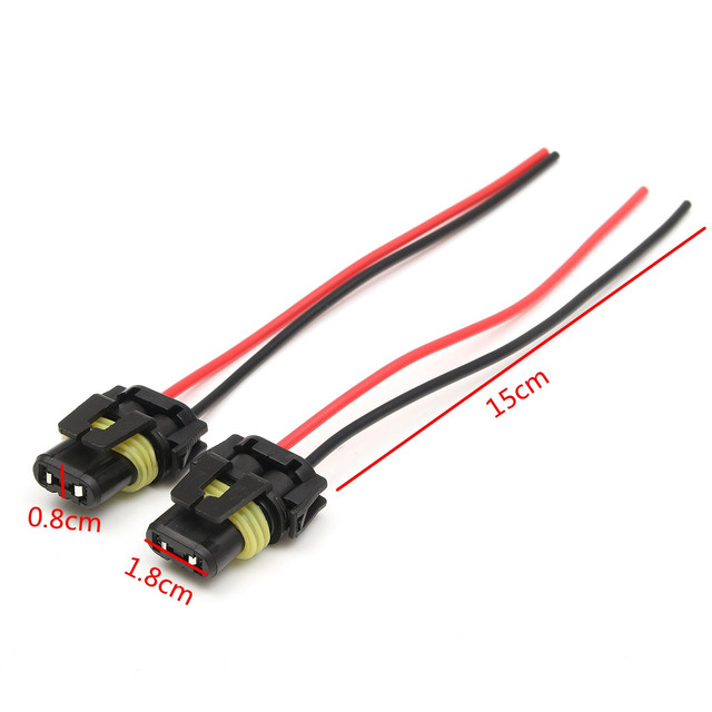 1 Pair Power Line Wire H10 9145 Harness Plug Fog Light Headlight ...