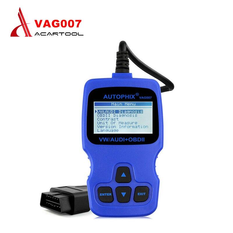 Original Autophix VAG007 VAG 007 Oil Reset/TP Position Check/Brake Pad Reset Function OBD2 Code Reader Scanner free Shipping autophix e scan es680 vag rpo obd scanner obdii code scanner