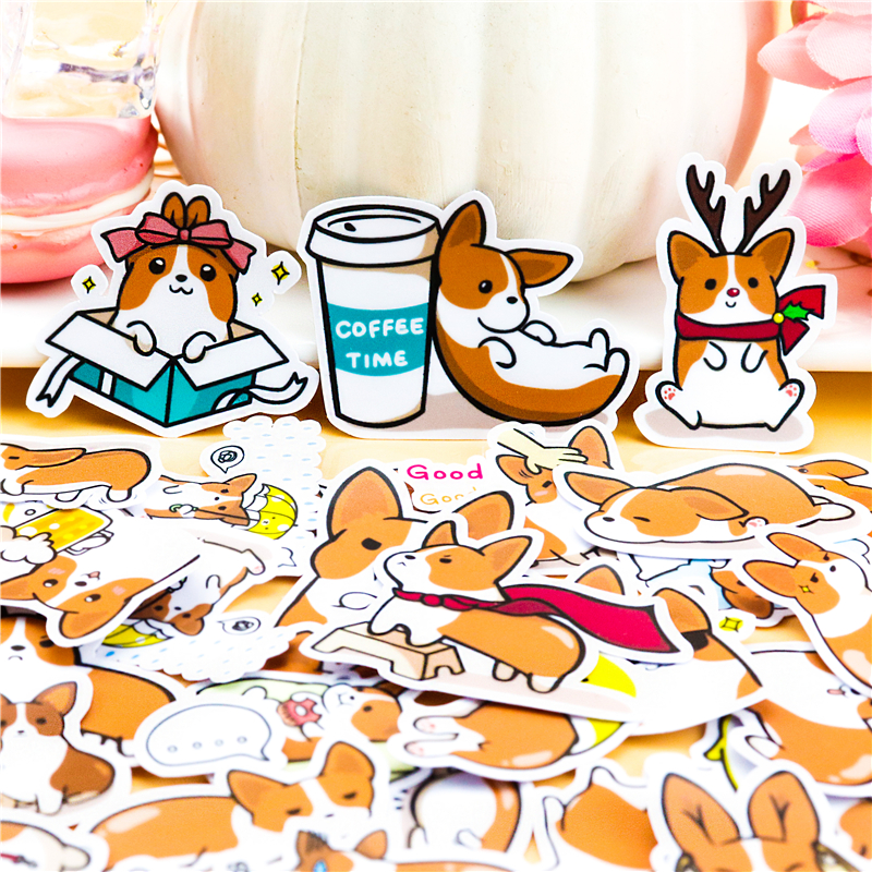 39pcs Creative Cute  Self-made Coco Dog  Scrapbooking For Phone Luggage Cartoon Fairy Paper Stickers / Waterproof Stickers