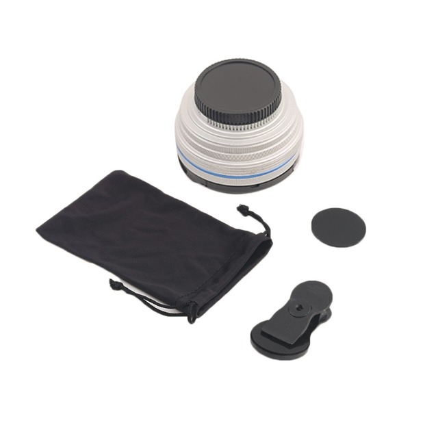 Practical Mobile Phone Metal Clip Phone Lens Set 0.6X Super Wide Angle Len + Macro Len + Clip For Most Phone