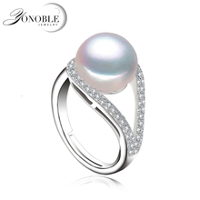 Real Lady pearl ring 925 silver wedding rings adjustable big Natural Pearl ring for women wife anniversary gift white pink white pink purple natural freshwater pearl wedding ring adjustable rings for wife hot sale