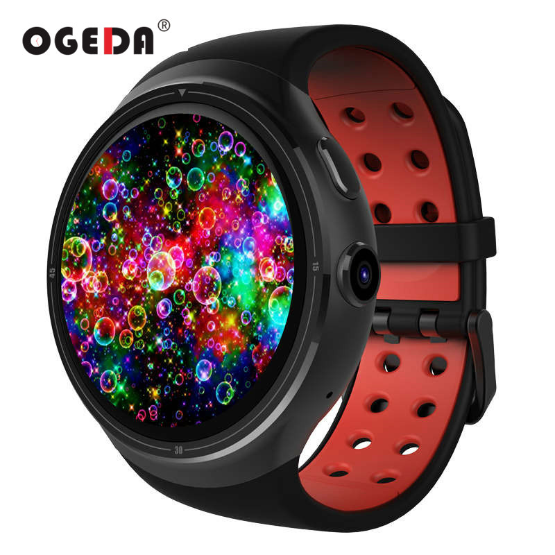 OGEDA 2017 Z10 Android 5.1 GPS Smart Watch 1GB 16GB MTK6580 Quad Core 1.39 400*400 Smartwatch With WIFI SIM For Android iOS