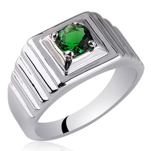 Vogue Men Jewelry Real 925 Sterling Silver Ring Man 5 5mm Round Stone Size10 to 13