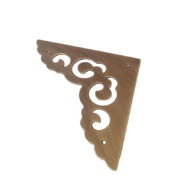 SSU#2 Pure copper wrap angle  European style antique box door flower Vintage hardware furniture accessories corner piece