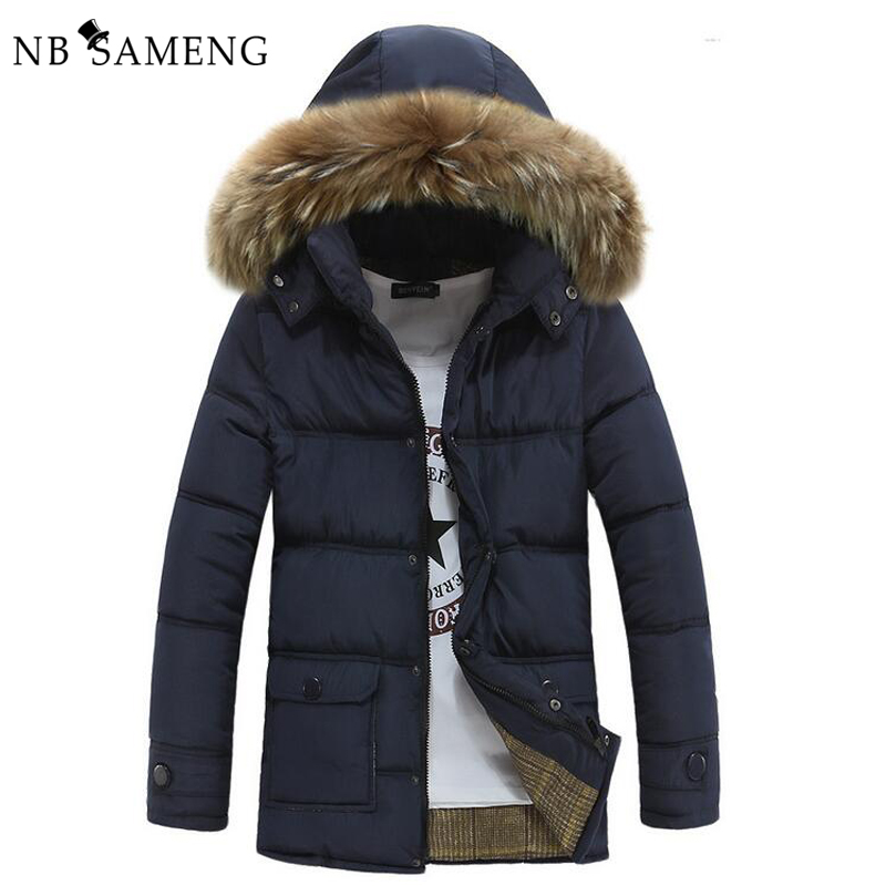 ФОТО 2017 New Men Warm Winter Jacket For Men's Parkas Hooded Brand Clothing Down Erkek Coat Parka NSWT198