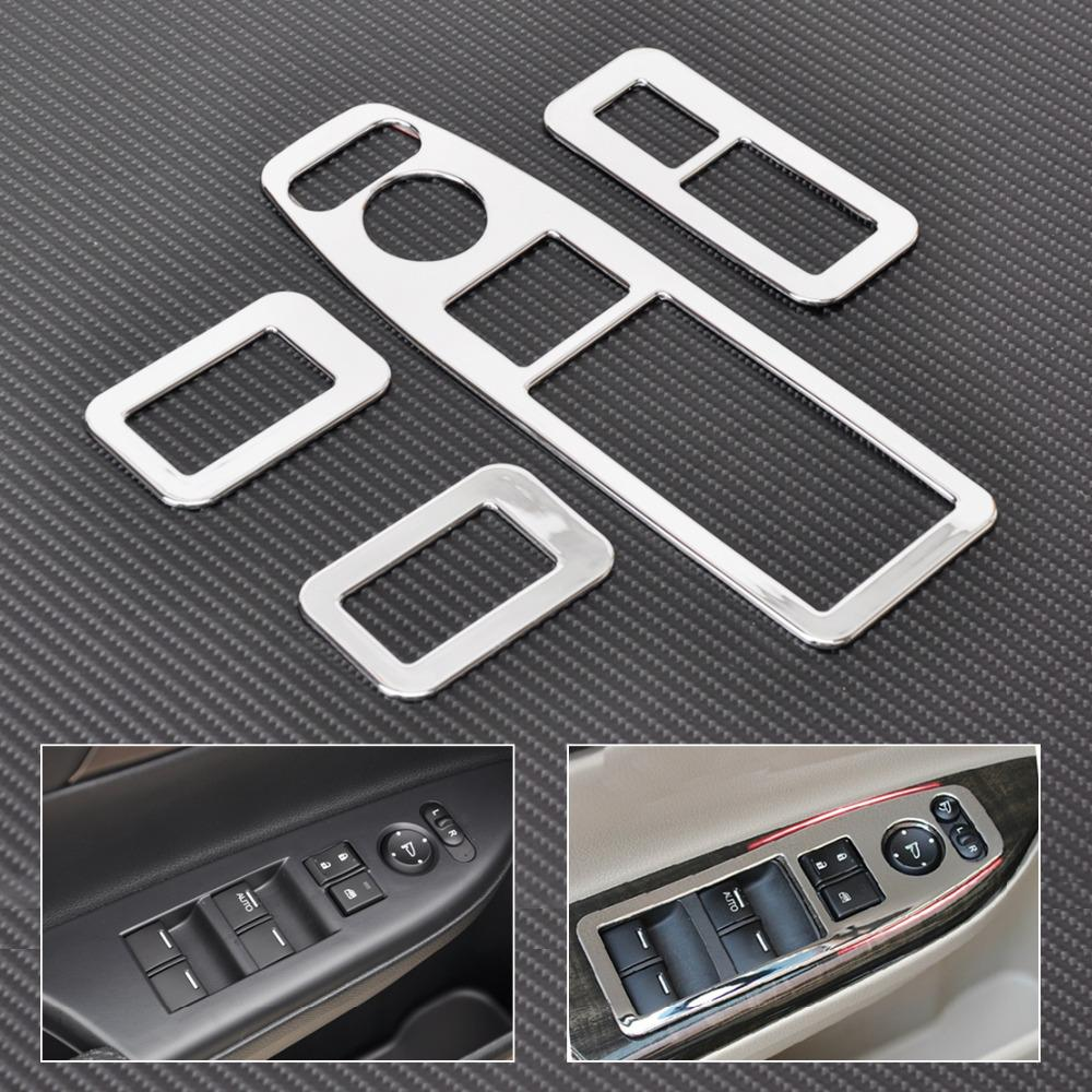 citall new 4pcs abs chrome car interior door window switch panel trim cover for 2013 2014 2015. Black Bedroom Furniture Sets. Home Design Ideas