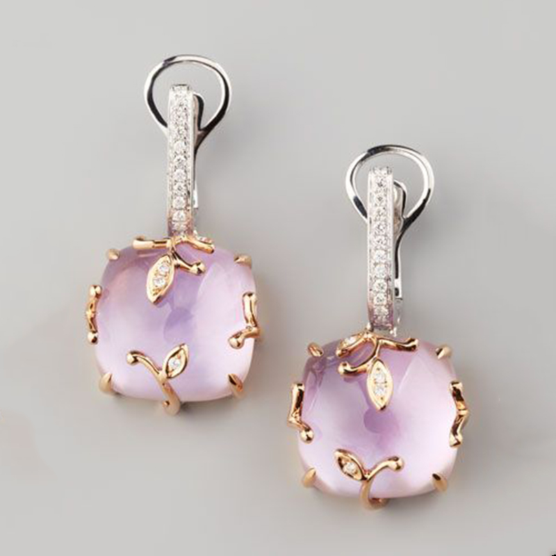 New Style Cushion Square Fashion Earrings For Women Ladies Gift Chic Jewelry Wedding Earrings Boucle D'oreille Femme 2019 Z4M193