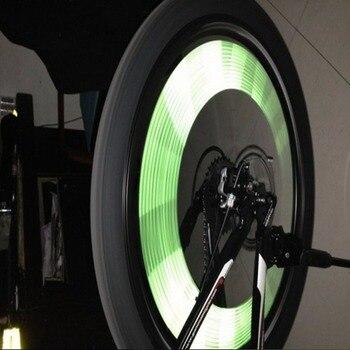 12Pcs Aro da roda da bicicleta falou clipe de tira de tubo refletor reflexivo novo 1