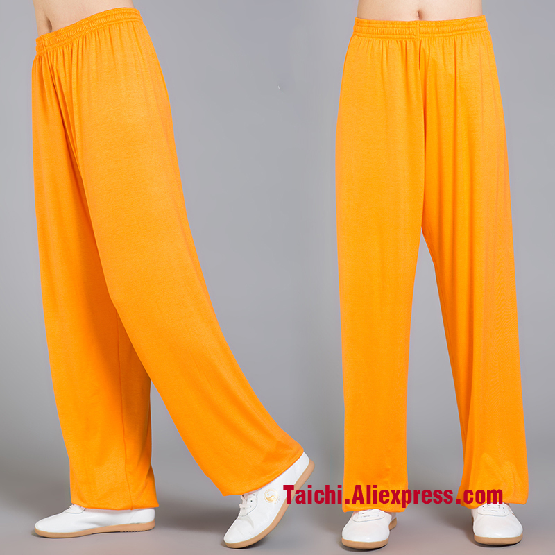 Modal Tai Chi Pants Woman And Man Wu Shu Pants Spring And Summer Martial Art Yoga Pants  7 Colors