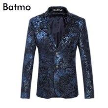 2017 new arrival high quality velvet casual printed flowers blazer men printed jacket men size S