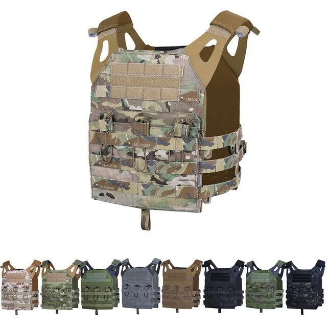 Emerson Tactical Jumpable Plate Carrier EmersonGear JPC Assault Lightweight Combat Vest Adjustable MOLLE+ Plates Body Armor