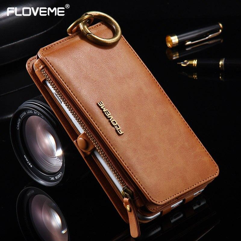 bilder für FLOVEME Retro Wallet Phone Cases Für Apple iPhone 7 6 6 s Plus 5 s 5 SE Leder Tasche Abdeckung für iphone7 6 6 s Fall Coque Capa Fundas