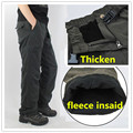 Winter Fleece Lined Men Cargo Double Layer Pants Warm Military Cargo Pants Casual Long Baggy Army  Tactical Trousers