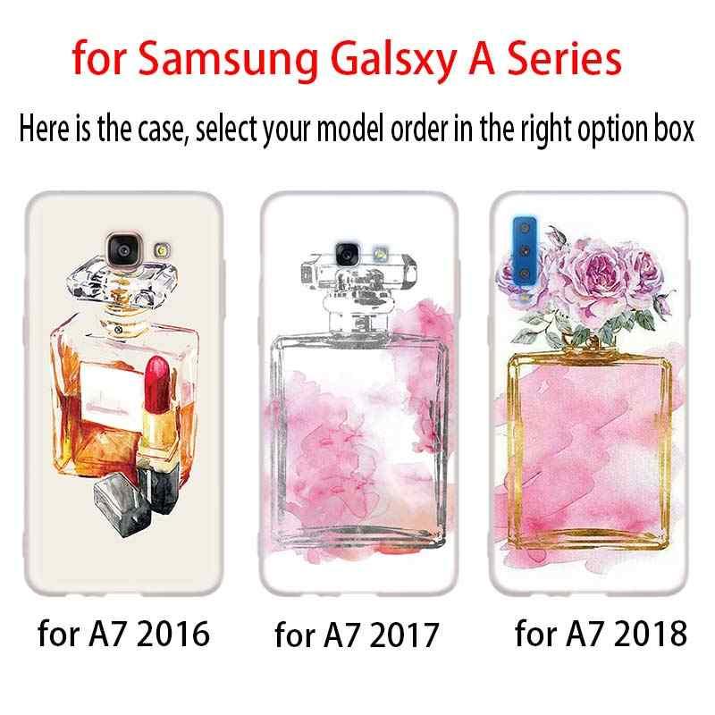 แต่งหน้า rouge น้ำหอมสำหรับ Samsung Galaxy A10 A20 A30 A40 A50 A60 A70 A6 A8 Plus A7 A9 2018 A3 A5 2017 นุ่ม Coque