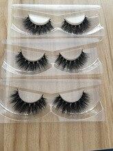 Free shipping 3pcs/lot 100% real siberian mink strip eyelashes 3D mink lashes lilly mykonos lashes