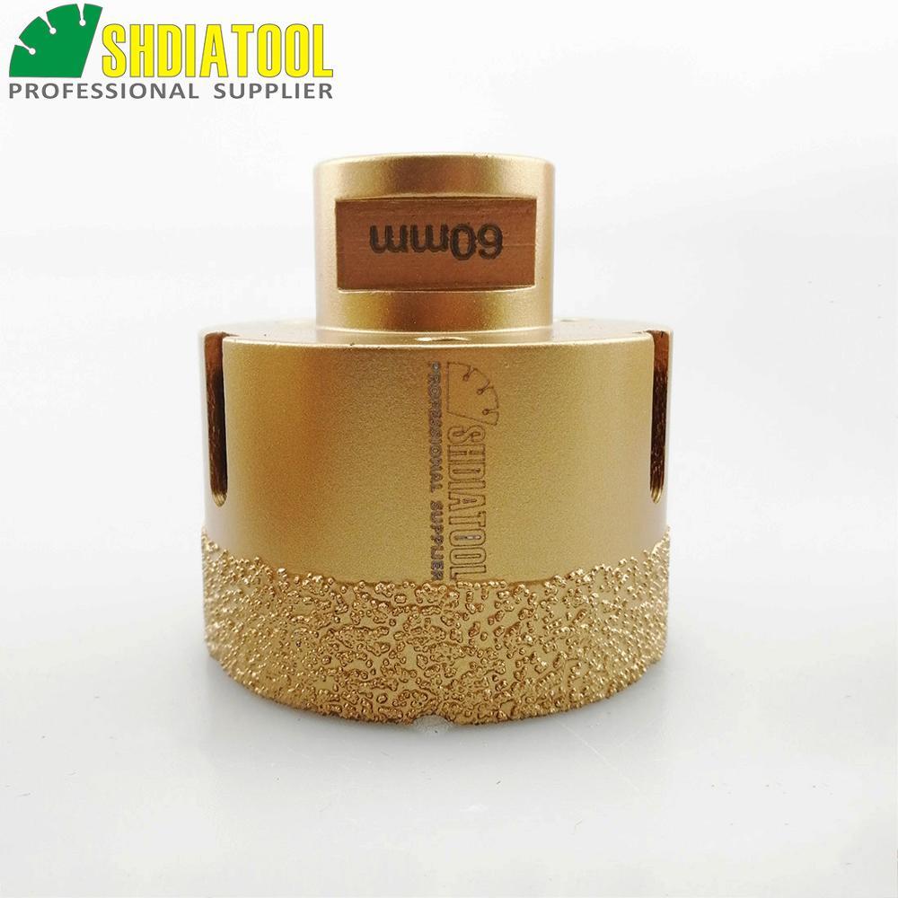 SHDIATOOL 60mm M14 Filetage Sous Vide Brasé Diamant Forage Core Bits - Foret - Photo 2