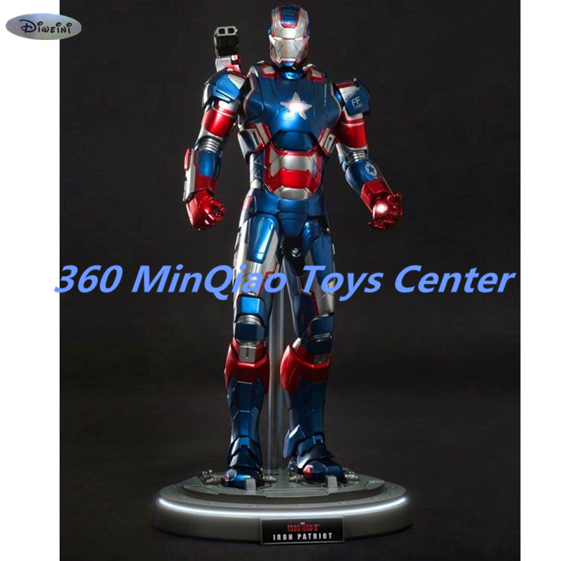 Statue Avengers Iron Man 3: 1/6th Scale Iron Patriot Die Cast Action Figure Collectible Model Toy RETAIL BOX WU809 [resin made] 1 4 scale god of war 3 kratos resin figure statue fans action figure collectible model toy 35cm retail box wu785