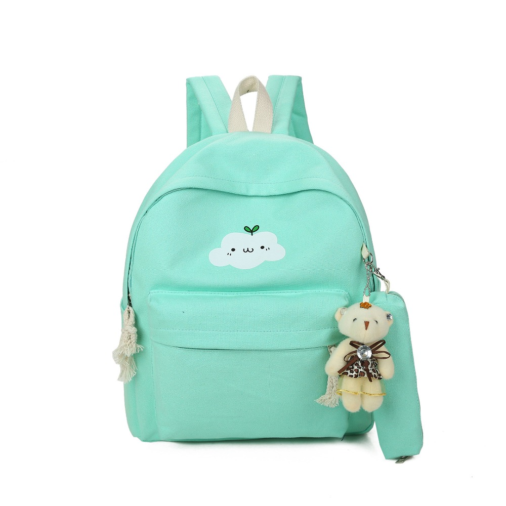 7d41fbd5ae2c Canvas backpacks clouds printing women backpack high quality school jpg  1000x1000 Cute bookbags