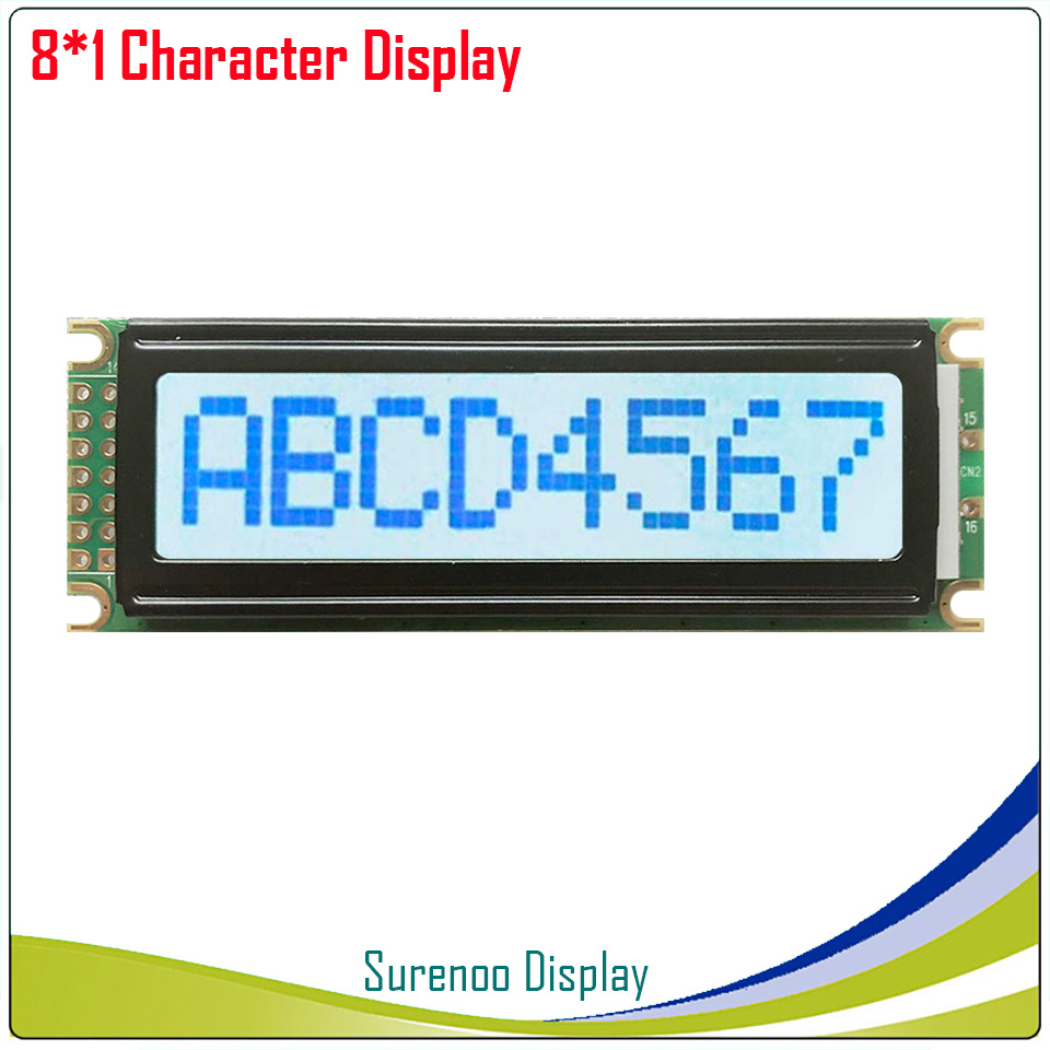 801 0801 8X1 Character LCD Module Display Screen LCM With White Backlight Build-in SPLC780D Controller