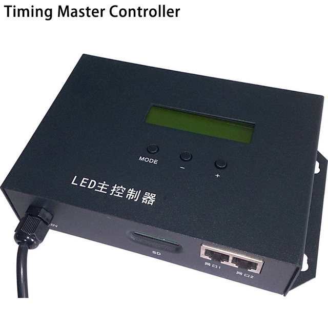 LED full color timing master controller play effects by schedule,support WS2811,UCS6909,etc.2 ports drive max 122880 pixels