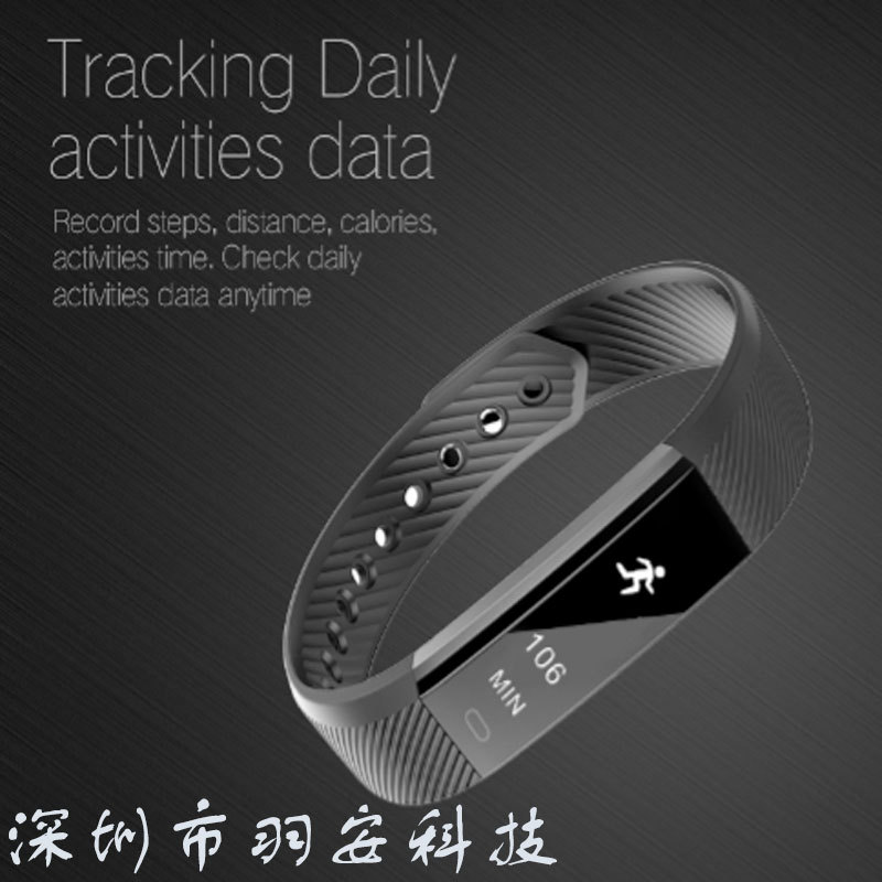 The New Standalone Id115 Series Intelligent Bluetooth Caller Id Bracelet Information Push Sports Bracelet in Body Fat Monitors from Beauty Health