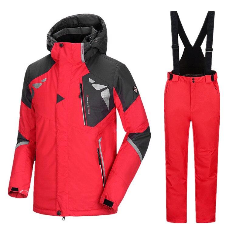 Ski Jacket Men Ski Suit Winter Jacket Men Snowboard Suits Men Snowboard Set Waterproof Winter Men's Sport Suit Ski Suit Male 3XL