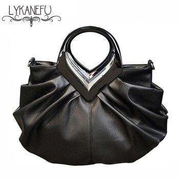 LYKANEFU женские сумки высокого качества сумка для женщин Черная модная клипса Hobos PU кожаная сумочка дизайнерская Bolsa Feminina >> LYKANEFU Pirate Corner Store