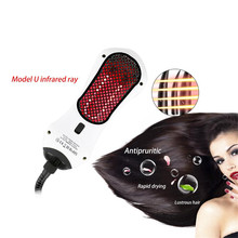Infrared Hair Dryer Comb Brush Anion Function Infrared 360 Swift Straightener Detangling Ionic Hair Blower Electric Automatic(China)
