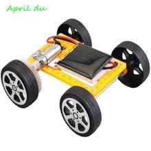 April Du New arrival Mini DIY Solar Engery Panel Powered Car Toy Assembly Model Kit Kids Creative Science Experiment ty 3 solar panel holders set for diy model toy white yellow