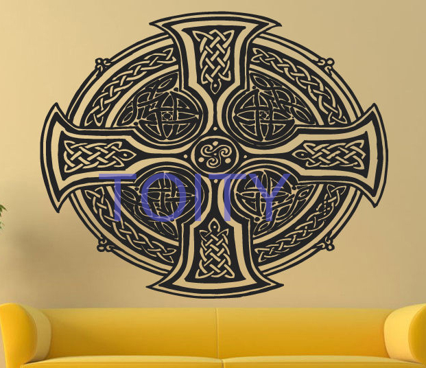 Aliexpress.com : Buy Celtic Cross Wall Sticker Celt Sign Vinyl Decal ...