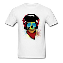 30s Birthday Gift T-Shirt For Adult Retro Old Skull DJ Rock T Shirt Men Pakistan Brand Shirt 2018 Biker T Shirts For Men Anime
