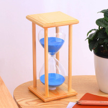 45/60 minutes wooden box colored crystal hourglass, solid wooden timer Valentine's Day gift, craft decoration 60 minutes wooden base timing hourglass creative glass crafts home decoration