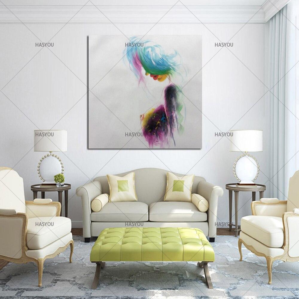 Neue Zeitgenössische Moderne farbenfrohes nude kunst malerei hand ...