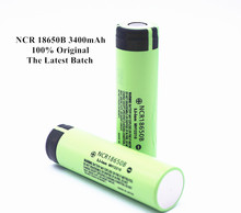 2PCS 100% Original 3.7V NCR 18650B 3400mAh Rechargeable Batteries For Panasonic 18650 Battery/Power Bank/Portable Charger/Light