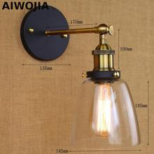 Loft Vintage Industrial Edison Wall lamps Clear Glass Wall Sconce Warehouse Wall Light Fixtures E27 110V/220V Bedside Lighting loft american country industrial vintage clear glass edison wall sconce lamp indoor bedside mirror home decor lighting fixture