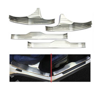 4pcs Stainless Steel Door Entry Sill Plate Scuff Plate Cover For Subaru Outback 2015 2016