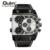 Relógios de Quartzo Dos Homens Sports Casual Pulseira de Couro relógio de Pulso dos homens Homem de Multi-Fuso Horário Militar Masculino Relógio relogios