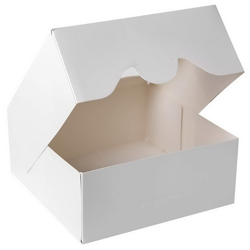 White Bakery Cookie Boxes With Windows 6x6x2.5inch Cookie Packing For Cookie  12pcs