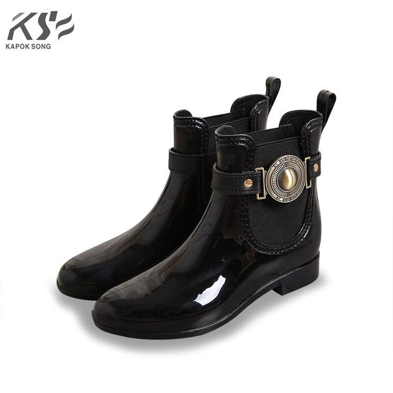 women rain boots waterproof ankle lady rainboot luxury designers shoes women rainwear pvc environmental comfortable shoes female