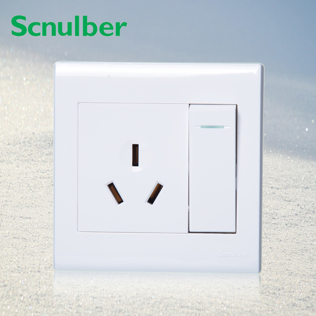 AU 3 pole wall switch outlet socket and 1 gang 2 way 250v 10a wall