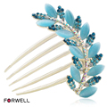 2016 new flower girl hair accessories rhinestone hair comb plate inserted hairpin comb c011