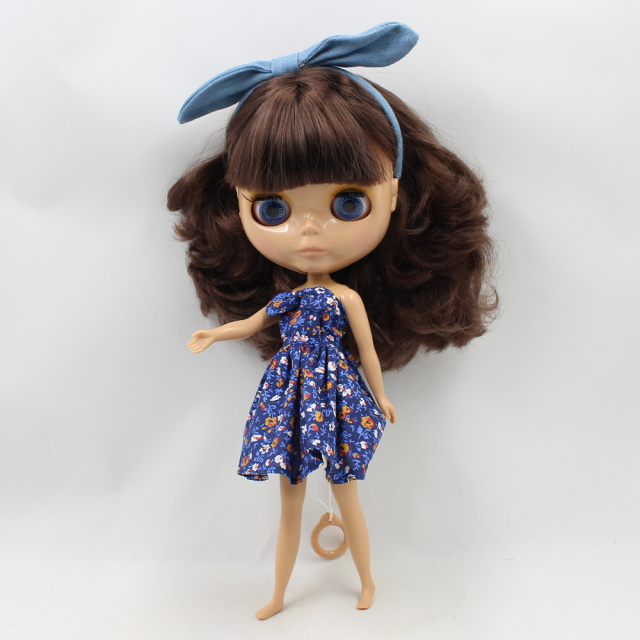 Neo Blythe Doll Swimming Dress With Headdress