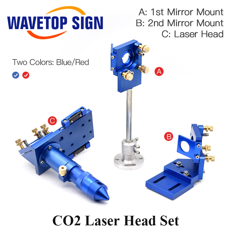 CO2 Laser Head Set Reflective Mirror & Focusing Lens Integrative Fixture Mount Holder For Laser Engraver Cutting Machine Parts