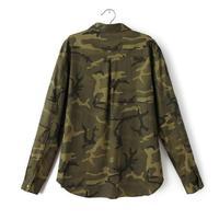 2017 1PC Denim Jacket Women Military Camouflage Blouse Coat Casual Fashion Jaqueta Feminina Chaquetas Mujer