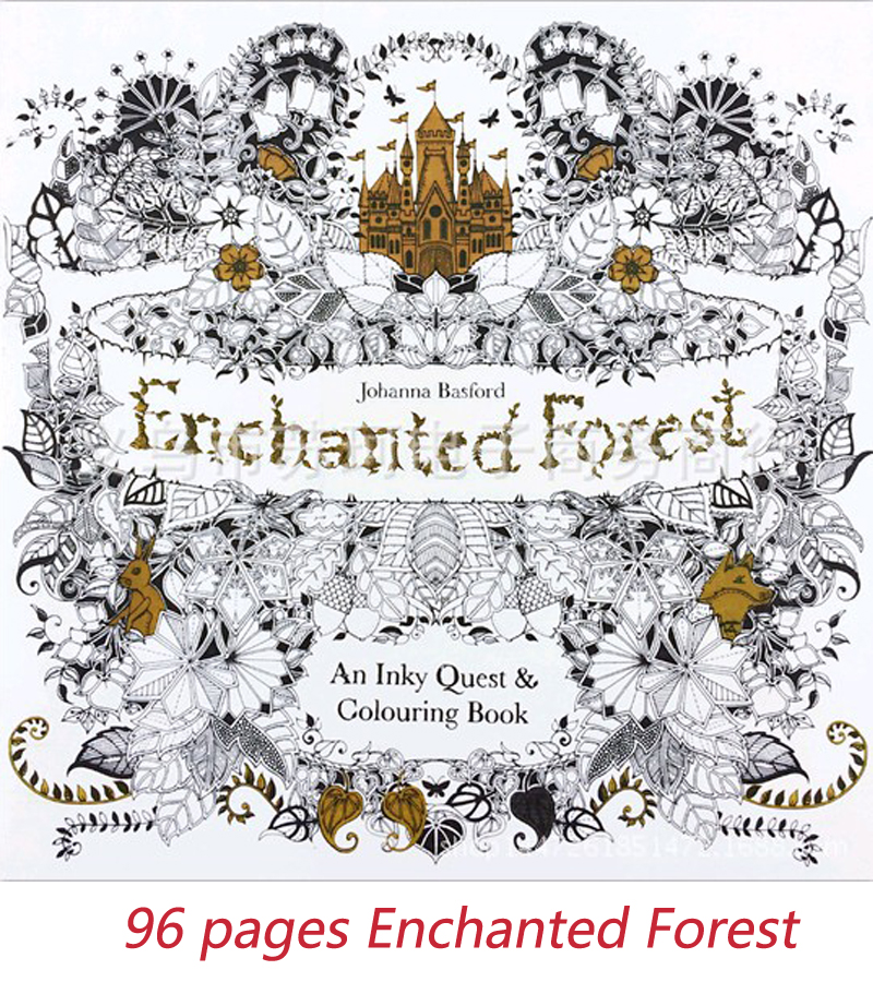 Secret Garden -Enchanted Forest  fairy tale dream dreams fairy tale coloring book for children under reduced book art suppliesSecret Garden -Enchanted Forest  fairy tale dream dreams fairy tale coloring book for children under reduced book art supplies