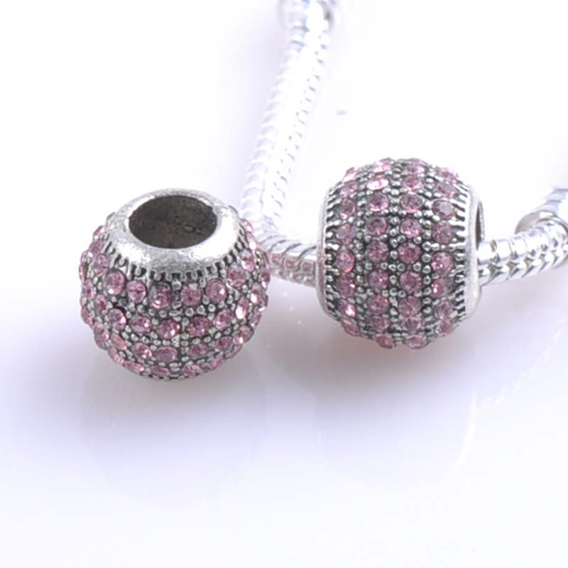 Alloy Charm safety Spacers Beads Fit Pandora Charms Bracelets Jewelry Handmade DIY DK-061X