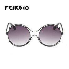 Plata de la manera hombres de las mujeres gafas de sol gafas de orange feirdio vintage ciclismo gafas de sol de la lente plana espejo anti-ultravioleta funcionamiento