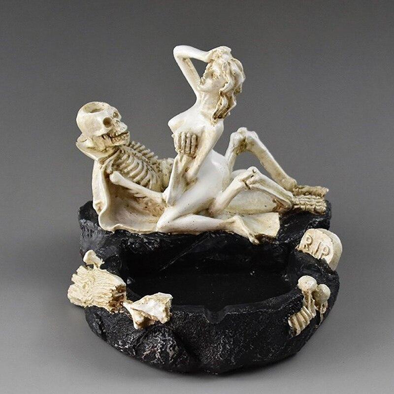 Haunted House Halloween Bar Supplies Sexy Lady Skull Ashtray